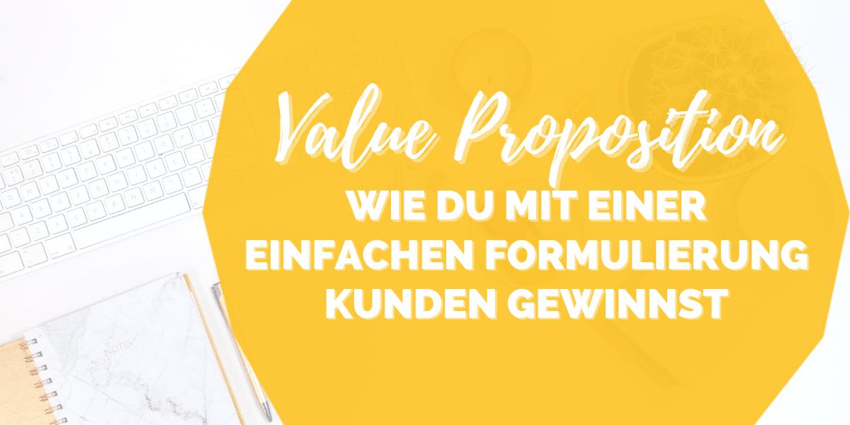Blogartikel Value Proposition