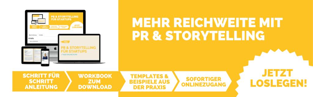 PR und Storytelling Online Kurs